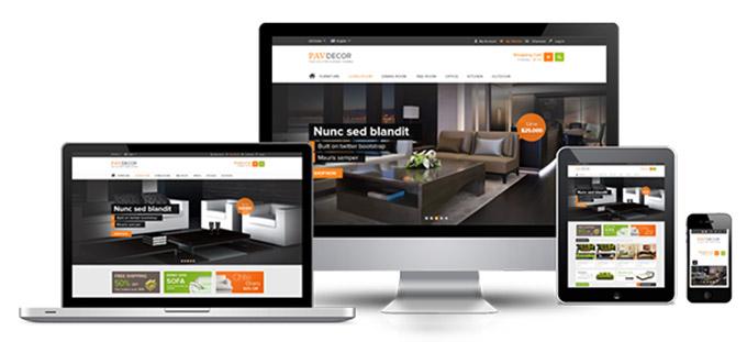 طراحی سایت دکوراسیون