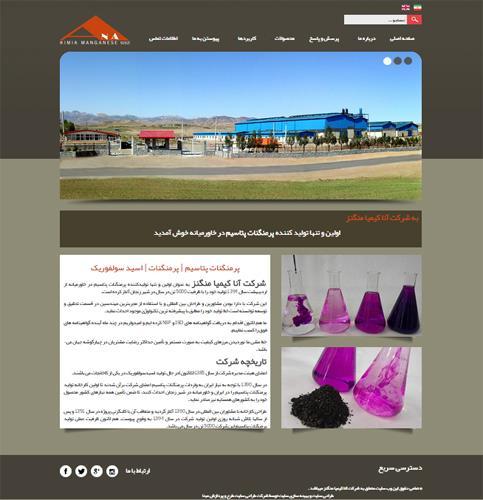 طراحی سایت شرکت آنا کیمیا